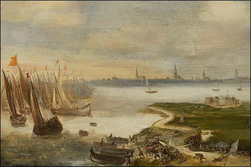 Maurits bij Antwerpen in 1605