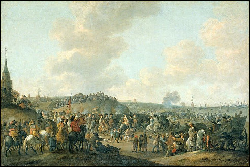 Karel II in Scheveningen