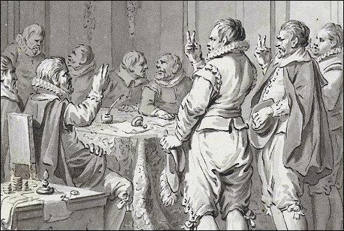 Het afzweren van de Spaanse koning Filips II