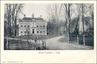 het voormalige kasteel Overbeek