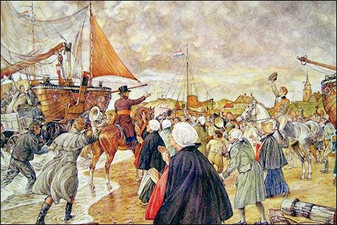 Willem I in Scheveningen