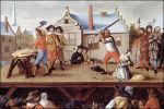 Foto Anoniem: Terechtstelling verraders van Maastricht (detail)