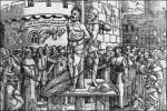 William Tyndale op de brandstapel in Vilvoorde