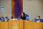 Voorzitter Khadija Arib in de Tweede Kamer
